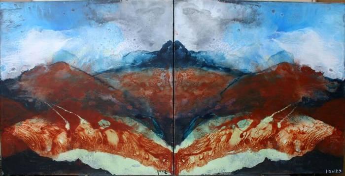 נחשולי ברק ורחל גורדין בתערוכה משותפת