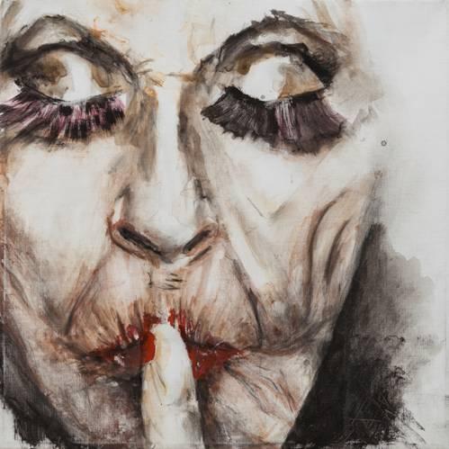 """ענת גרינברג – """"קליפה"""", תערוכת ציורים"""