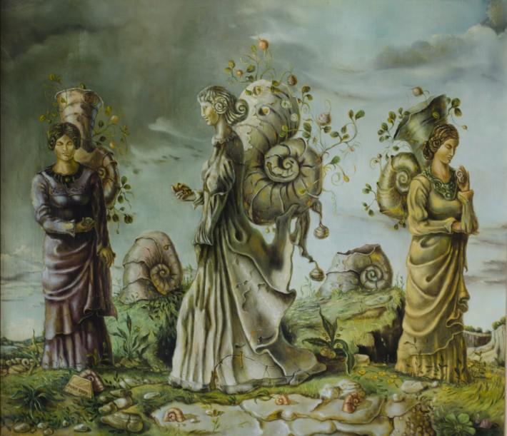'מסע אל התת מודע', מנדי סנד (1932-2004), ציורים
